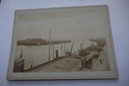 LE  HAVRE  PHOTO  SUR  CARTON   PORT DU  HAVRE   ENTRE  LE  HAVRE  ET  SOUTHAMTON   DIM  11/16  CM - Anciennes (Av. 1900)