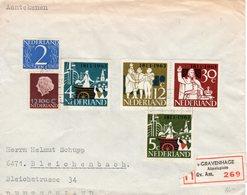 13 XI 1964 Aangetekende Brief Van 's_Gravenhage Almeloplein Naar Bleichenbach - 1949-1980 (Juliana)