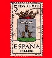 SPAGNA - Usato - 1962 - Stemmi Araldici - Albacete - 5 - 1931-Heute: 2. Rep. - ... Juan Carlos I