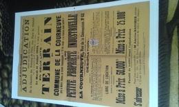 VP14.521 - Affiche 40 X 60 - PARIS  1933 - Adjudication Terrain & Petite Propriété Industrielle Sise à LA COURNEUVE - Posters