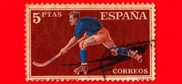 SPAGNA - Usato - 1960 - Sport - Hockey Su Pattini A Rotelle - 5 - 1931-Oggi: 2. Rep. - ... Juan Carlos I