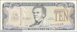 TWN - LIBERIA 27c - 10 Dollars 2006 Prefix BB UNC - Liberia