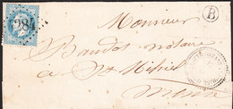 Lettre (Type Sage) De USSEL De 10 Juillet 18 .. Via BOURG LASTIE - 1849-1876: Classic Period