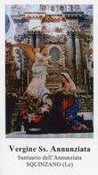 Squinzano (Lecce) - Santino VERGINE SS. ANNUNZIATA - PERFETTO P90 - Religione & Esoterismo