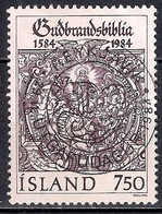 Iceland 1984 - The 400th Anniversary Of The Bible Gudbrandsbibelen - Gebruikt