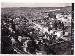 Photo Originale Lapie Figeac Superbe Vue Aerienne Du Centre Ville  Lot Dpt 46 Maquette Pour Cpa Année 1950 Environ - Places