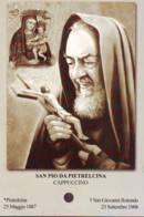 Reliquia San Pio Con Crocifisso E Madonna, Santino Pieghevole Con Preghiera - Religione & Esoterismo