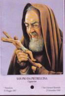 Reliquia San Pio Con Crocifisso , Santino Pieghevole Con Preghiera - Religione & Esoterismo