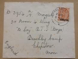 BURMA 1940 George V Cover Mingladon Cantonment To Chepstow UK - Birmanie (...-1947)
