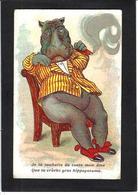 CPA Hippopotame Postion Humaine Cigare Non Circulé - Hippopotamuses
