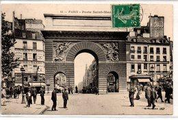 Paris : Porte Saint-Martin - France