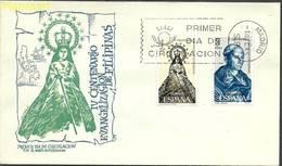 Spain 1965 Mi 1587-1588 FDC ( FDC ZE1 SPN1587-1588 ) - Christianisme