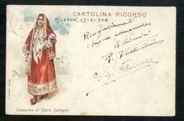 OSILO - SASSARI - 1903 - CARTOLINA RICORDO - DONNA IN COSTUME - Costumi