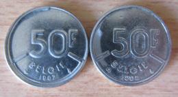 Belgique - Monnaie Fautée - 50 Francs 1987 - Tranche Fautée, Coin Bouché Et Frappe Décalée - SUP - 1951-1993: Baudouin I