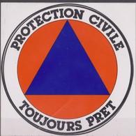 Publicité Autocollant, Reclamesticker, Protection Civile. - Pegatinas