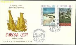 Turkey 1977 Mi 2415-2416 FDC ( FDC ZE2 TRK2415-2416 ) - Europa-CEPT