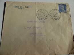 Lettre De La Laiterie  De La Placette De Janze Ille Et Vilaine 1951 - Frankreich