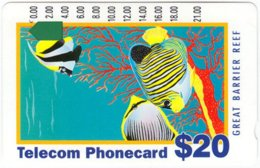 AUSTRALIA A-116 Optical Telecom - Painting, Animal, Sea Life, Fishes, Corals - Used - Australia