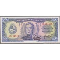 TWN - URUGUAY 46a4 - 50 Pesos 1967 Serie A UNC - Uruguay