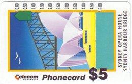 AUSTRALIA A-349 Optical Telecom - Painting, Landmark, Sidney Opera House - Used - Australia