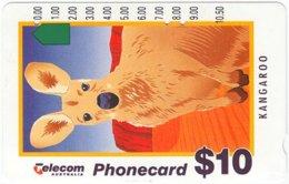 AUSTRALIA A-354 Optical Telecom - Painting, Animal, Kangoroo - Used - Australia