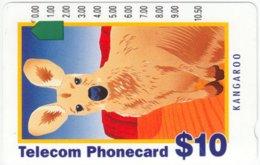 AUSTRALIA A-355 Optical Telecom - Painting, Animal, Kangoroo - Used - Australia