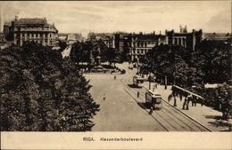 Cp Riga Lettland, Blick Auf Das Alexanderboulevard - Latvia