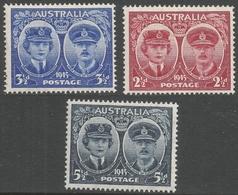 Australia. 1945 Arrival Of Duke And Dutchess Of Gloucester In Australia. MH Complete Set. SG209-211 - 1937-52 George VI