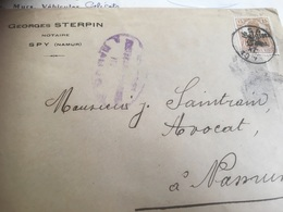 Enveloppe Notaire Sterpin SPY + Timbre Deutsches Reich - Postmark Collection