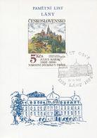 J0873 - Tschechoslowakei (1992) Denkblatt / Lany: 600 Jahre Dorf (Jubiläum Der Tschechoslowakei) - Schlösser U. Burgen