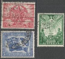 Australia. 1946 Victory Commemoration. Used Complete Set. SG213-215 - 1937-52 George VI