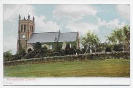 Parracombe Church - Peacock Autochrom  P.5409 - England