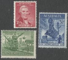 Australia. 1947 15th Anniv Of City Of Newcastle. MH Complete Set. SG219-221 - 1937-52 George VI