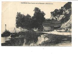 33-GAURIAC-(Bourg-sur-Gironde)-Une Vue Animée Des Bords De La Gironde à MARMISSON - France