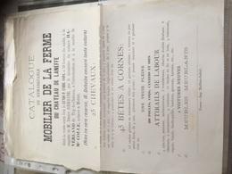 Affiche A4 Catalogue Mobilier De La Ferme Château De LANEFFE 1894 Notaire à METTET Imp. FOSSES - Posters