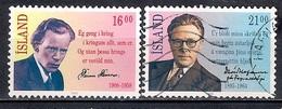 Iceland 1988 - The Poets David Stefansson And Steinn Steinarr - 1944-... Republik