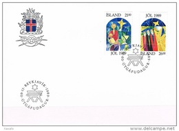 Iceland 1989 - FDC Christmas - 1944-... Republik