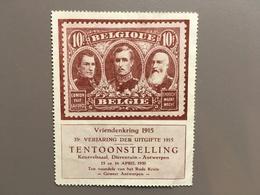 ANTWERPEN - Sluitzegel - Dynastie - Tentoonstelling - Rode Kruis - Filatelie - Dierentuin - Cachets Généralité