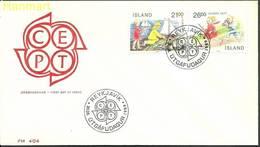 Iceland 1989 Mi 701-702b FDC ( FDC ZE3 ICL701-702b ) - Childhood & Youth
