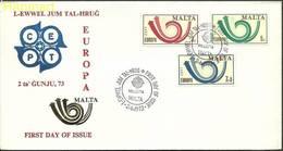 Malta 1973 Mi 472-474 FDC ( FDC ZE2 MLT472-474 ) - Europa-CEPT