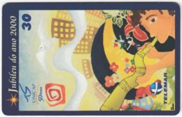 BRASIL H-057 Magnetic Telemar - Cartoon - Used - Brazil