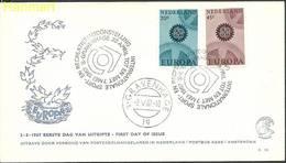 Netherlands 1967 Mi 878-879b FDC ( FDC ZE3 NTH878-879b ) - Europa-CEPT