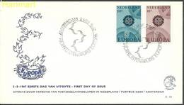 Netherlands 1967 Mi 878-879a FDC ( FDC ZE3 NTH878-879a ) - Europa-CEPT