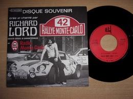 """Rallye Monte-Carlo - Radio Monte Carlo - Alpine A110 Renault - Richard Lord Bernard Spindler Rare Original 7"""" Vinyl - Collector's Editions"""