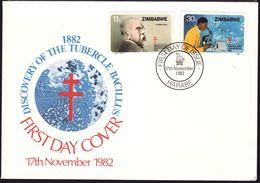 Zimbabwe 1982, FDC, TB, Health, Cv Stamps Only Is 5 Euro - Zimbabwe (1980-...)