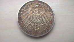 Württemberg 1909 F 3 Mark Wilhelm II. König Von Württemberg 900 Silber - 5 Reichsmark