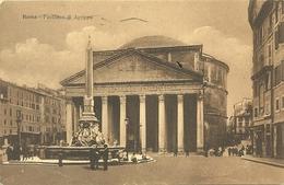 ROMA  PHANTEON  DI  AGRIPPA   VIAGGIATA  X  LUGANO  1912  ROMA  FERROVIA - Panthéon