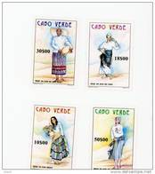 Cap Vert-Cabo Verde-1998-Costumes-722/25***MNH-Valeur 4 Euro - Costumes