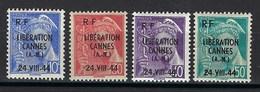 France, Libération, CANNES, N° 1 à 4 * TB SIGNÉ - Liberación