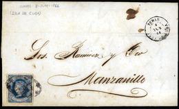 """CUBA. """"1866, 8 June. Tunas/Manzanillo."""" - Non Classés"""